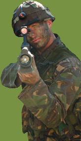 Covert Combat Player Shooting Lazertag Lazer Combat Assault Rifle